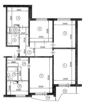Дизайн типовых квартир серии п-44